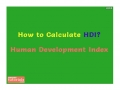 How to Calculate HDI