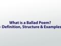 ballad poem coleridge