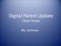Parent Conference Updates