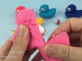 Play and Learn Colors with Play Dough Ducks Surprise Toys Mickey Mouse Peppa Pig Donald Duck