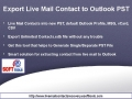 Export Live Mail Contact to Outlook