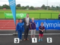 Alex 50m run medal ceremony