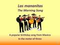 Las Mananitas (vocals)