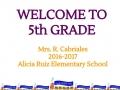 5th Grade Parent Orientation_English