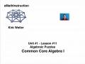 Common Core Algebra I.Unit 1.Lesson 11.Algebraic Puzzles