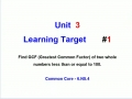 Unit 4 - Learning Target 1 - Positive & Negative Integers