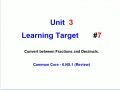 Unit 3 - Learning Target 7 - Convert Between Fractions and Decimals