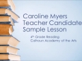 Caroline Myers teaching video