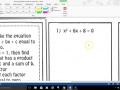 Alg 2 Solve Quadratic Equations by Factoring