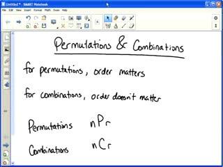 permutations combinations probability