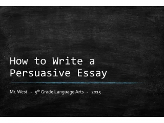 persuasive essay writing outline