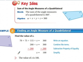 Finding the angle measure of a quadrilateral