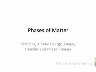 Phases of Matter Guided Notes Video