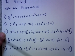 Add/sub polynomials