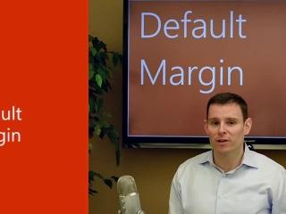 Default margin in Word 2013