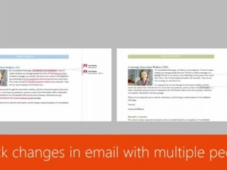 Track changes in email with multiple people
