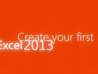 Start using Excel