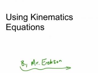 using kinematics equations