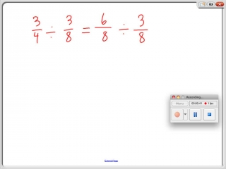 Dividing Larger fractions by smaller fractions