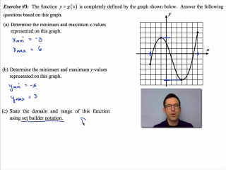 Common Core Algebra II Unit 2 Lesson 4 The Domain and Range of a Function