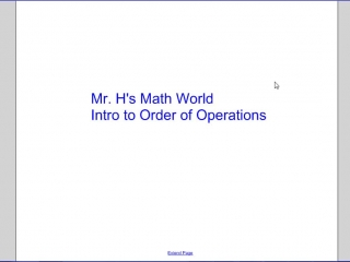Introduction to Order of Operations