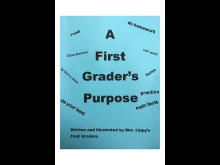 A First Grader's Purpose