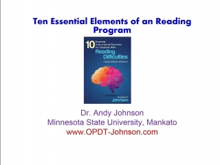 Reading Instruction