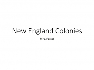 New England Colonies Flipped Classroom