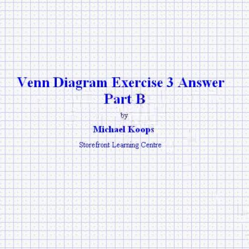 Venn Diagram Exercise 3 Answer Part B