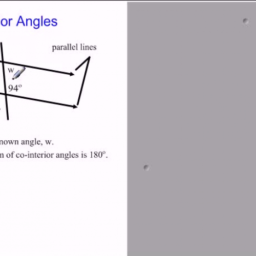 What Is A Co Interior Angle