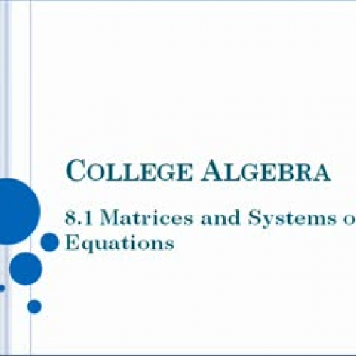 how to solve using matrices