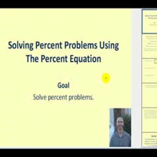 solving percent problems using equations