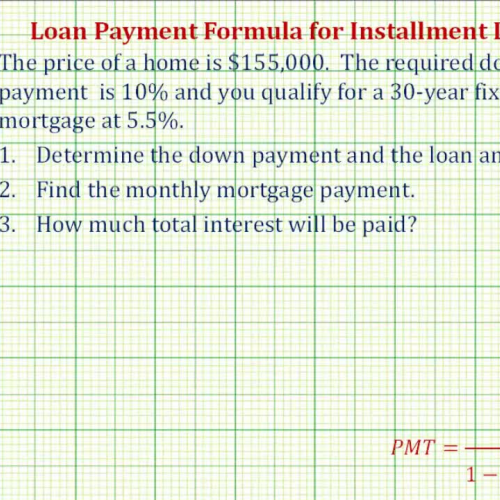 how to find total mortgage payment