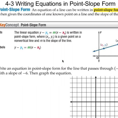4 3 Writing Equations In Point Slope Form