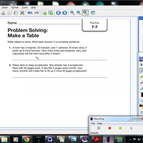 7 7 Problem Solving Make A Table