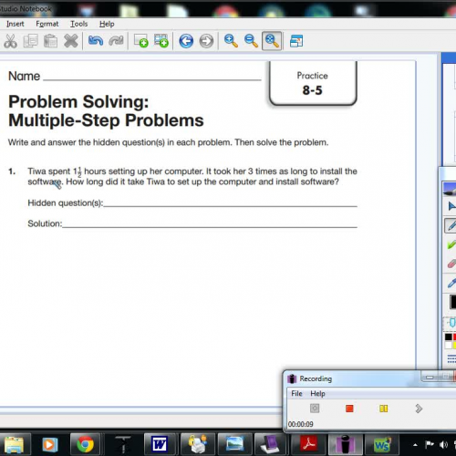 problem solving multiple step problems 11-7 reteaching