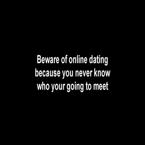 Online dating psa