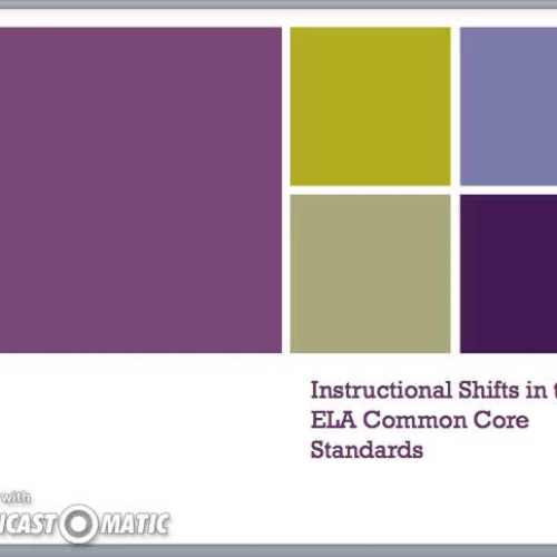 Instructional Shifts In Ela Common Core Standards