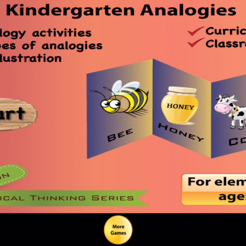 Kindergarten Picture Analogy App -- Sample questions