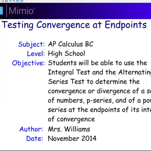 10 5 Testing Convergence at Endpoints