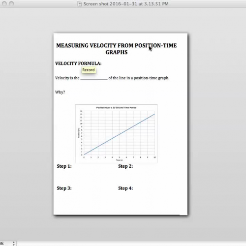 how to find average velocity from a velocity time graph