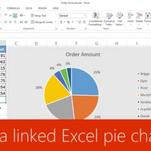 Insert A Linked Excel Pie Chart