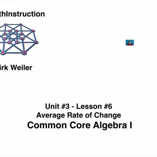 Common Core Algebra I Unit 3 Lesson 6 Average Rate of Change by  eMathInstruction