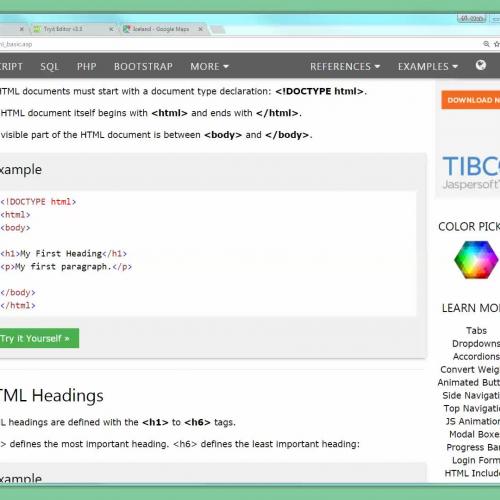 W3Schools HTML Intro