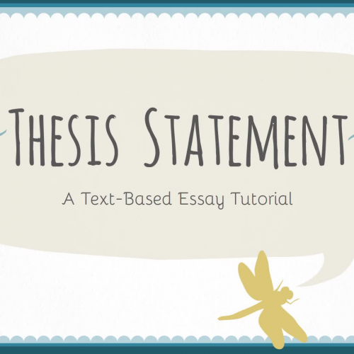 teachertube thesis statement