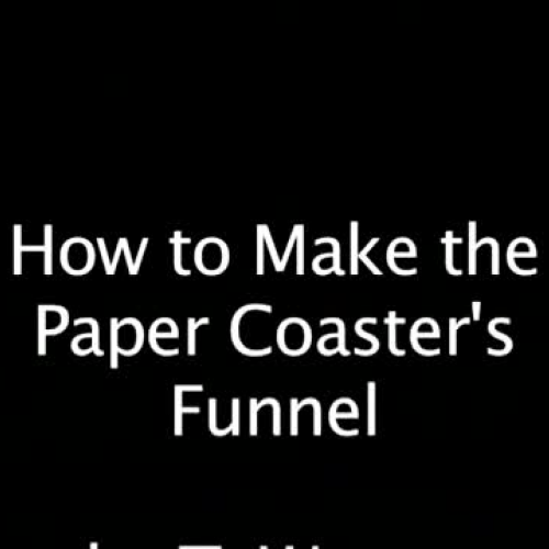 How To Make The Paper Coasters Funnel