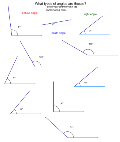 Lines and angles worksheets for 7th grade
