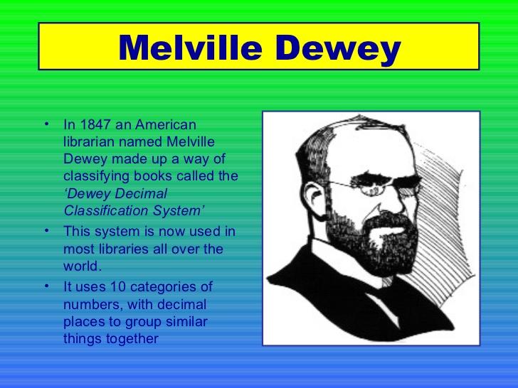 The Dewey Decimal System – Dewey Decimal Worksheet