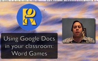Word Games in Google Docs part 1