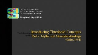 Introducing Threshold Concepts 2
